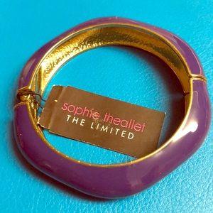 NWT The Limited Purple & Gold bangle bracelet